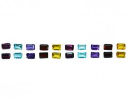 25Cts Natural Fancy colour semi precious Octagon 6 X 4mm Calibrated  Par