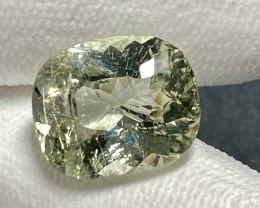15.72Ct. Pale Green Tourmaline Mozambique Cushion Untreated