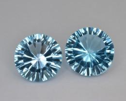 Natural Blue Topaz 14.83 Cts Concave Cut.