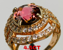 4.5 CT RUBELLITE RING- I DISCONNECT MY COLLECTION.  AFTER 36 YEARS!