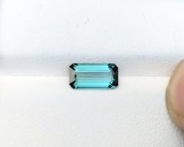1.50 Ct Natural Blueish Green Transparent Tourmaline Ring Size Gemstone
