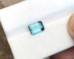 1.60 Ct Natural Blue Transparent Ring Size Tourmaline Gemstone