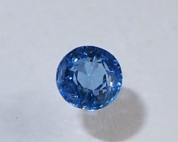 0.8ct unheated blue sapphire