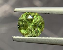 Natural Demantoid Garnet 1.17 Cts, Full Sparkle Faceted Gemstone