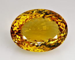 30.65 ct. 100% Natural Top Yellow Golden Citrine Unheated -IGE Certificat
