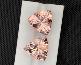 46.15 Carat natural Brazilian Morganite Pair  Gemstone