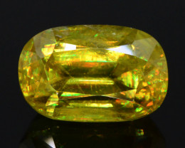 Rainbow Fire 4.05 Ct AAA Brilliance Sphene !GH!