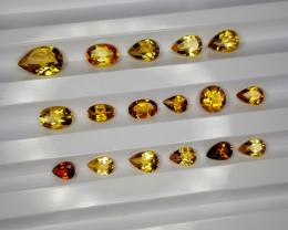7.98Crt Madeira Citrine Lot Natural Gemstones JI127
