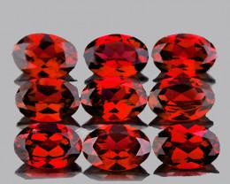 6x4 mm Oval 9 pcs 4.81cts Orange Red Mozambique Garnet [VVS]