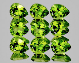 5x4 mm Pear 9 pcs 3.12cts Green Peridot [VVS]
