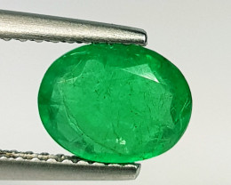 1.23 ct  Excellent Gem Beautiful Oval Cut Natural Emerald