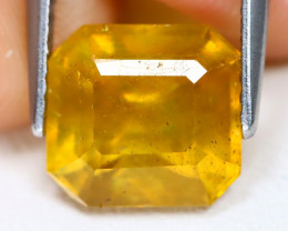 Yellow Sapphire 4.12Ct Square Cut Yellow Color Sapphire B0314
