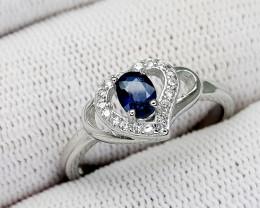 16CT BLUE SAPPHIRE 925 SILVER RING 9 BEST QUALITY GEMSTONE IIGC27