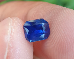 UNHEATED CERTIFIED 1.05 CTS NATURAL BEAUTIFUL ROYAL BLUE SAPPHIRE CEYLON SR