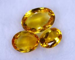 17.14cts Natural Orangish Yellow Citrine Lots / MA1219