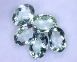 Checkerboard 27.36cts Natural Green Amethyst Lots / MA1233