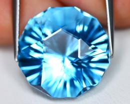 Swiss Topaz 16.73Ct VVS Master Laser Cut Natural Swiss Blue Topaz A0403