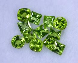 Master Cut 9.11cts Natural Apple Green Peridot Lots / MA1259