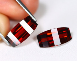 Almandine 6.30Ct 2Pcs Pixalated Cut Natural Almandine Garnet C0415