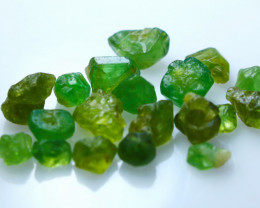 NR!! 34.00 CTs Natural & Unheated~ Green Garnet Rough Lot