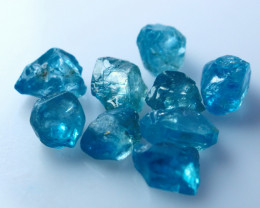 NR!! 28.60 CTs Natural & Unheated~Blue Zircon Rough Lot