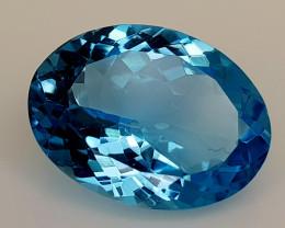 14.82Crt Blue Topaz Natural Gemstones JI128