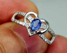 15Crt Blue Sapphire 925 Silver 7.5 Natural Gemstones JI128