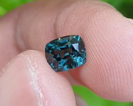 UNHEATED 1.19 CTS NATURAL BEAUTIFUL GREENISH BLUE SPINEL MOGAK BURMA