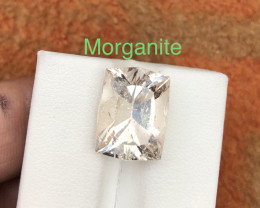 lovely 8.95 ct Attractive Peach Color Morganite Ring Size