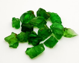 10CT RARE TSAVORITE GARNET FACET GRADE ROUGH PARCEL BEST QUALITY GEMSTONE