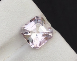 Attractive 3.95 ct Pink Morganate lovely cut Ring size
