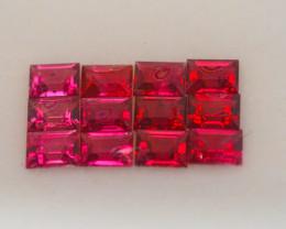 VVS! Unheated VIVID Red Spinel 12 Pieces (Burma)