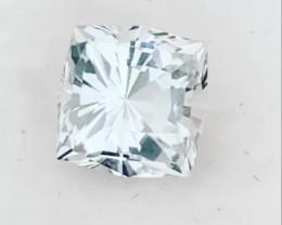 Glittering Princess Cut Goshenite - White Emerald.  2355