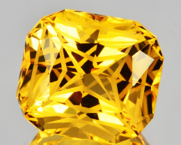 ~CUSTOM CUT~ 3.85 Cts Natural Golden Orange Citrine Fancy Cushion Brazil