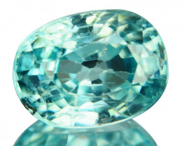 ~SHIMMERING~ 1.94 Cts Natural Blue Zircon Oval Cut Cambodia