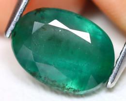 Zambian Emerald 2.60Ct Oval Cut Natural Green Color Emerald A0517