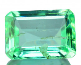 Natural Vivid Green Emerald Octagon Cut Colombia 0.48ct