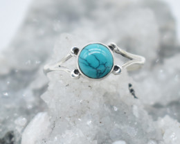 TURQUOISE  RING 925 STERLING SILVER NATURAL GEMSTONE JR1034