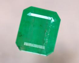 Emerald 1.38Ct Natural Zambia Green Emerald E0817/A38