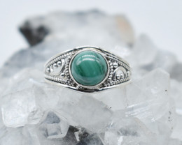 MALACHITE RING 925 STERLING SILVER NATURAL GEMSTONE JR1041