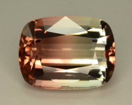 Nice Colour Separation 26.20 ct Peach Bi Color Tourmaline