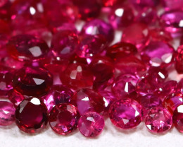 4.80Ct Round 1.6mm Burmese Ruby Natural Blood Red Ruby Lot C0612