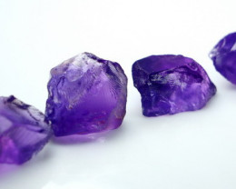 NR!! 52.15 CTs Natural & Unheated~ Purple Amethsyt Rough Lot