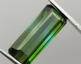 Tourmaline, 2.4ct, a combination of indicolith and verdelith fascinating st