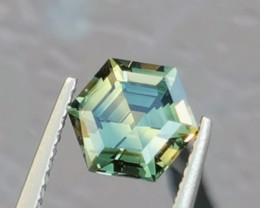 Lovely 1.8ct Unheated sapphire faceted in a hexagonal design