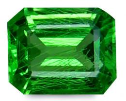Tsavrite Garnet 0.80 Cts Vivid Green Step cut BGC1158
