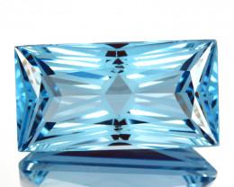 ~CUSTOM CUT~ 19.64 Cts Stunning Natural Blue Topaz Fancy Cut Brazil