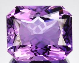 ~CUSTOM CUT~ 7.00Cts Natural Purple Amethyst Fancy Octagon Bolivia
