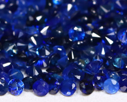 4.53Ct Calibrate 1.4mm Round Natural Blue Color Sapphire Lot A0711