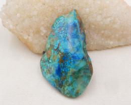 210cts Chrysocolla Stone Cabochon, Raw Chrysocolla Healing stone H1557